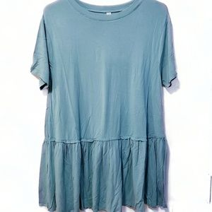 Ash Mint Ruffled Tunic Size Medium